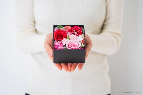 和紙の花‐Washi Flower Box オリジナルフラワーボックス新作・新色入荷 (大きさ参考)