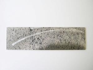 墨染めの落水紙に銀箔などでデザインしたインテリア和紙アートパネル