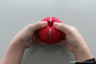 リンゴを取り出している所(リンゴ型オブジェの作り方)1