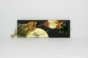 墨デザイン+鶴亀(結納水引リメイクパネル)