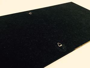 縦横自由に飾れる金具・紐付(N様、和紙アートパネル)