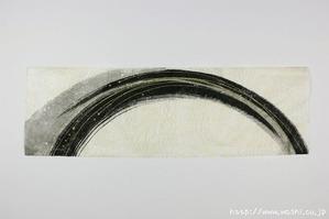 墨デザインの創作和紙1