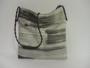 紙布(しふ)巾着、墨