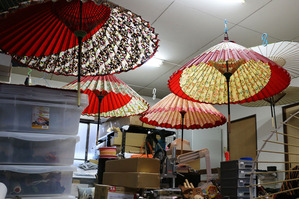 金沢和傘の制作風景(6)