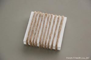 DIY ブックカバー!模様作りからおこなう和紙ブックカバー 線デザイン (2)