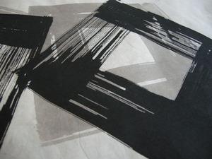 創作和紙「墨デザイン紙 アップ写真」