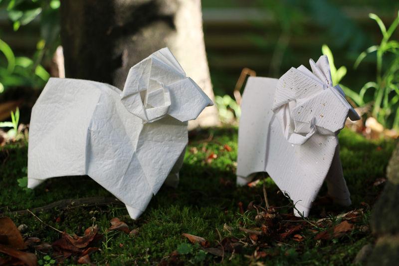 すべての折り紙 折り紙専門店 : 来年の干支「ひつじ」の折り紙 ...