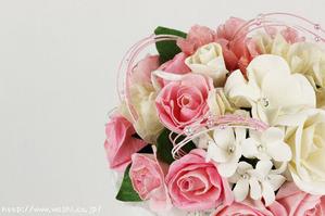 結婚1周年(紙婚式)のプレゼントにオススメの和紙ブーケ・花束(ピンク)アップ