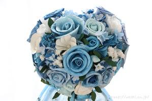 結婚式のサプライズプレゼント!サムシングブルーの和紙ブーケ・花束(正面アップ)