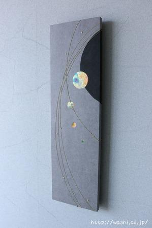 玄関インテリア(愛知県H様オリジナル和紙アートパネル)斜め