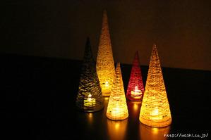 【DIY 和紙照明・あかり】和紙糸の円錐型ランプシェード (ムードのある和紙あかり)