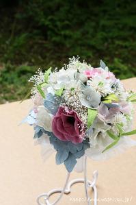 広島県のS様 紙婚式の特注和紙ラウンドブーケ・花束 (1)