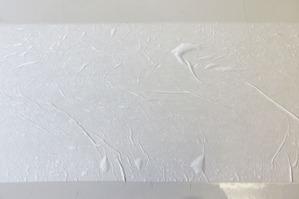 和紙に完全に浸透するまで水を与えます。