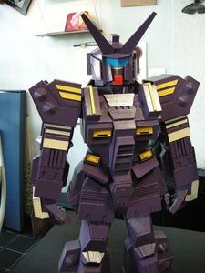 紙製ロボット(紫色厚紙)