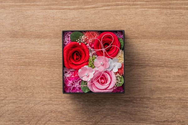 和紙の花‐Washi Flower Box オリジナルフラワーボックス新作・新色入荷 (レッド&ピンク)
