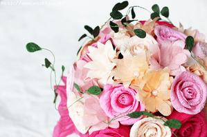 紙婚式のプレゼント(Y様和紙ブーケ・花束)アップ