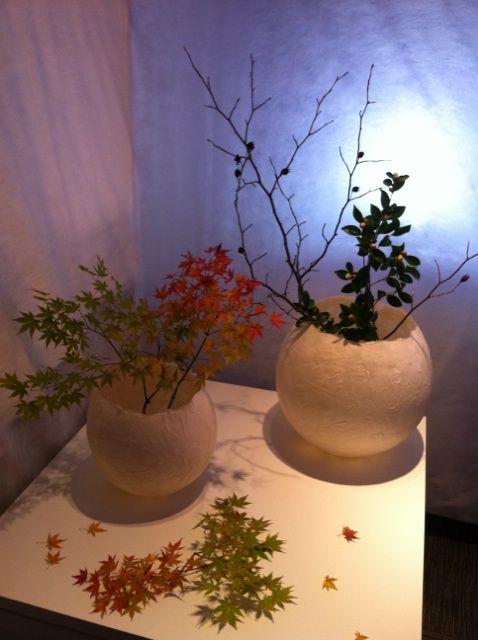 和紙の花器(石川県インテリアデザイン協会展)