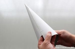 【DIY 和紙照明・あかり】製作型を作る(3:ホッチキスで仮止め、セロハンテープで固定する)
