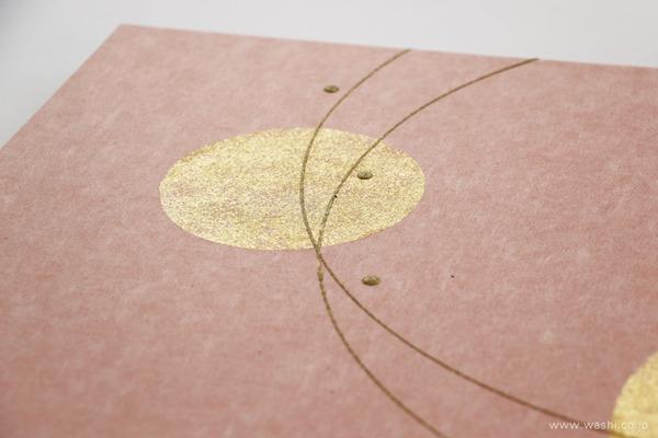 結納飾りをリメイクして3種類の角型アートパネルに (ピンクパネルデザイン部分)