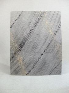 墨染めの麻和紙にデザインを施したインテリア和紙アートパネル