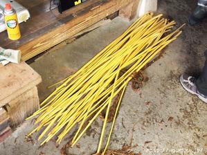 悠久紙(五箇山和紙)楮はぎ(心材は薪として再利用)