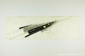 墨デザインの創作和紙6
