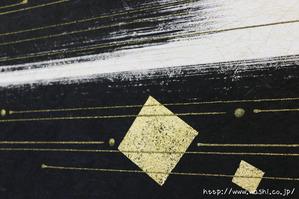 本金粉を使用(和紙アートパネル)