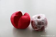 リンゴを取り出せました(リンゴ型オブジェの作り方)