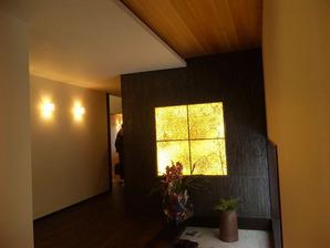 玄関照明(光壁)創作和紙