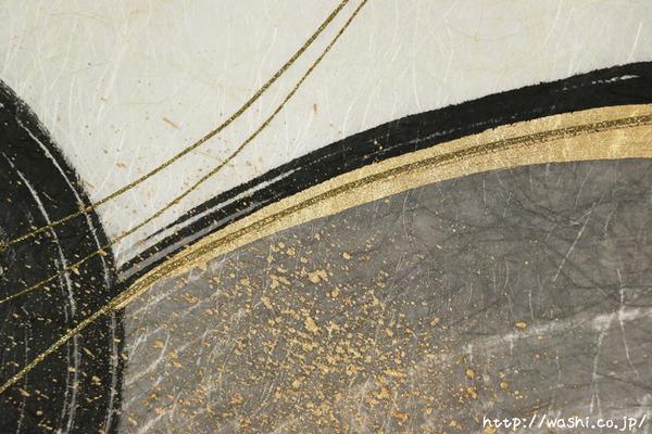 料理が引き立つ店内装飾 珪藻土+和紙「わびさび」アートパネル (個室・墨書入りデザイン部分)