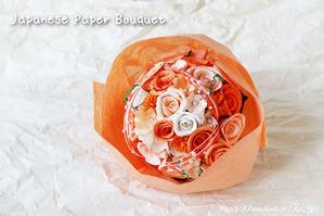 受注生産の和紙ラウンドブーケ・花束が新入荷しました(結婚1周年の紙婚式プレゼント)