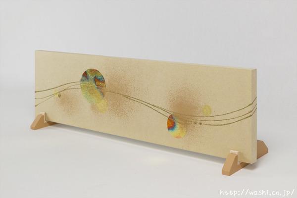 結納品リメイク「モダンなアートパネル」 (横向き立て掛け)
