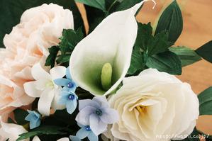 結婚1周年、紙婚式の和紙ブーケ。全て和紙で作られたトルコ桔梗ブーケ・花束 (ミニサンプル) (2)