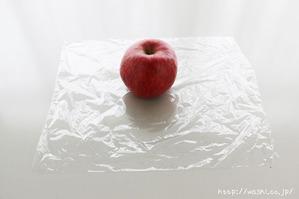 ラップで全体を包んでいきます(リンゴ型オブジェの作り方)