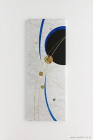 かたちを変えて新たな思い出に。3種類の結納品リメイクパネル (爽やかな銀と青のデザインパネル 水引無し)