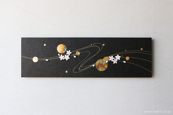 花や雪などのパーツを付け替えて、季節を楽しめるアートパネル