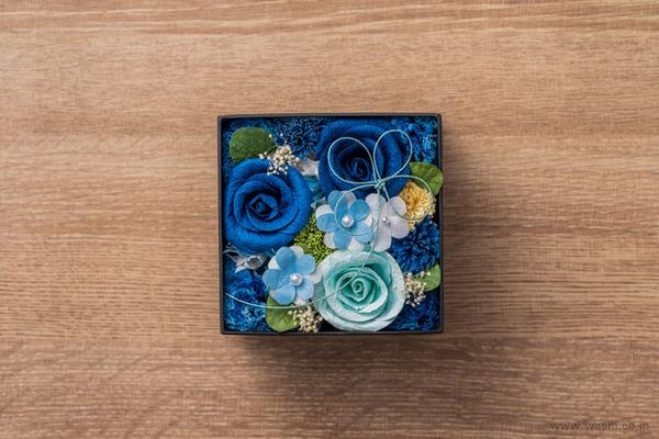 和紙の花‐Washi Flower Box オリジナルフラワーボックス新作・新色入荷 (ブルー&ペールブルー)