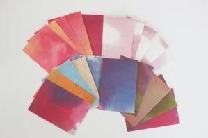 色鮮やかな手染め和紙ポストカード