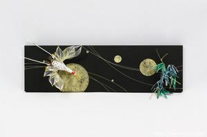 自由自在なスタイルを楽しめる!結納品リメイク・リフォームアートパネル (鶴と竹)