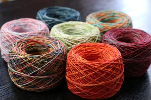 紙糸(多色)和紙の糸