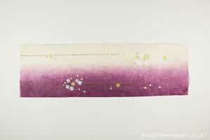 桜モチーフの創作和紙