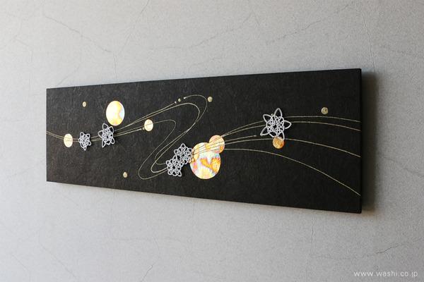 花や雪などのパーツを付け替えて、季節を楽しめるアートパネル (冬・雪の結晶モチーフ)