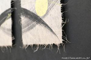 和紙の繊維質が特徴的なアートパネル