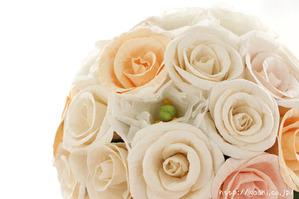 バラとトルコ桔梗の和紙ブーケ・花束(世界に一つだけの紙婚式プレゼント)アップ