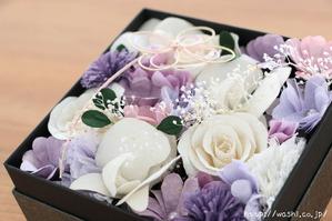 ご祖母様への誕生日プレゼント|和紙の花ボックスフラワー特注品 (アップ)