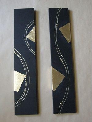 黒ベースに金のデザイン(結納水引リメイク品)水引無しバージョン