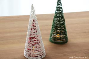 【DIY 和紙照明・あかり】和紙糸の円錐型ランプシェード (色違いを重ねたもの)