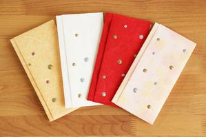 水玉模様の和紙金封
