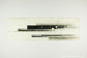 墨デザインの創作和紙3