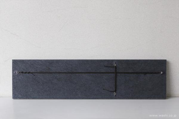 水引飾りを取付けて陰影を楽しむ−和紙マグネットアートパネル (裏面)
